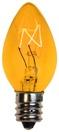 C7 Yellow Christmas Light Bulbs, Transparent