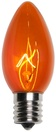 C9 Amber / Orange Christmas Light Bulbs, Transparent