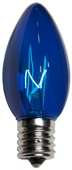 C9 Blue Christmas Light Bulbs, Transparent