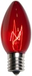 C9 Red Christmas Light Bulbs, Transparent