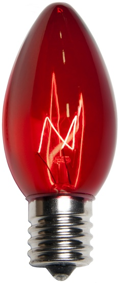 C9 Red Replacement Bulbs, Transparent