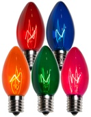 C9 Multicolor Christmas Light Bulbs, Transparent
