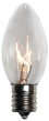 C9 Clear Christmas Light Bulbs, Transparent