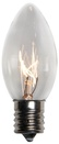 C9 Clear Christmas Light Bulbs, Transparent, 10 Watt