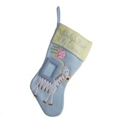 "18.5"" Baby's First Christmas Blue Stocking for Boy"