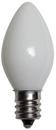 C7 White Christmas Light Bulbs, Opaque