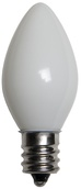 C7 White Christmas Light Bulbs, Opaque