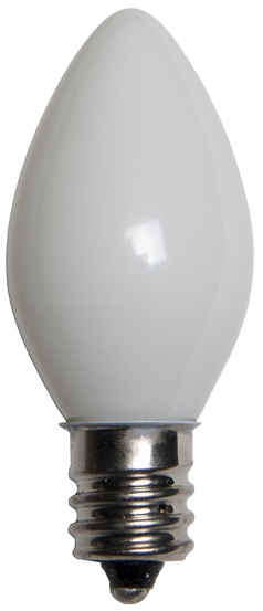 C7 White Replacement Bulbs, Opaque