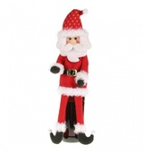 "16"" Santa Wine Bottle Cover"