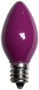 C7 Purple Christmas Light Bulbs, Opaque