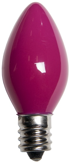 C7 Pink Christmas Light Bulbs, Opaque