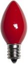 C7 Red Christmas Light Bulbs, Opaque