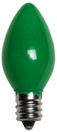 C7 Green Christmas Light Bulbs, Opaque