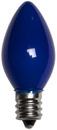 C7 Blue Christmas Light Bulbs, Opaque