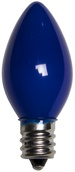 C7 Blue Christmas Light Bulbs, Opaque