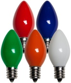 C7 Multicolor Christmas Light Bulbs, Opaque