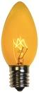 C9 Yellow Christmas Light Bulbs, Transparent