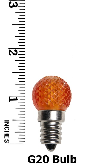 G20 Twinkle Multicolor LED Globe Light Bulbs