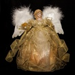 "14"" Gold Fiber Optic Animated Angel Tree Topper"
