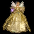 "16"" Gold Fiber Optic LED Angel Tree Topper"