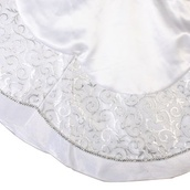 "48"" Sheer Organza White Christmas Tree Skirt"