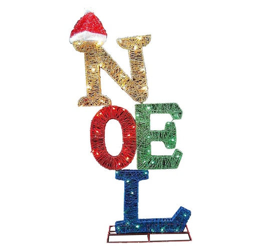 "44"" 50 Light 3D Noel Sign with Santa Hat"