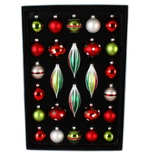 26 Count Christmas Finial Ball Ornaments