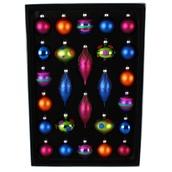 26 Count Multicolor Glass Ornaments