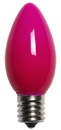 C9 Pink Christmas Light Bulbs, Opaque