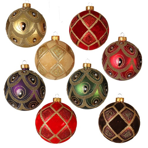 24 Count Multicolor Shatterproof Ball Ornaments