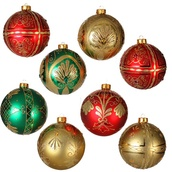 24 Count Shatterproof Christmas Ball Ornaments
