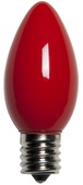 C9 Red Christmas Light Bulbs, Opaque