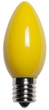 C9 Yellow Christmas Light Bulbs, Opaque