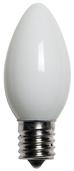C9 White Christmas Light Bulbs, Opaque