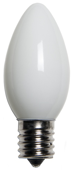 C9 White Replacement Bulbs, Opaque