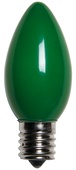 C9 Green Christmas Light Bulbs, Opaque
