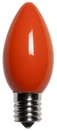 C9 Orange Christmas Light Bulbs, Opaque