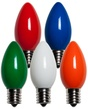 C9 Multicolor Christmas Light Bulbs, Opaque