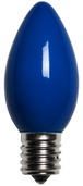 C9 Blue Christmas Light Bulbs, Opaque