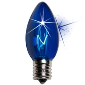 C9 Twinkle Blue Christmas Light Bulbs