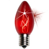 C9 Twinkle Red Christmas Light Bulbs