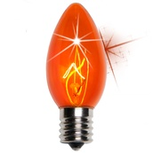 C9 Twinkle Amber / Orange Christmas Light Bulbs