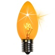 C9 Twinkle Yellow Christmas Light Bulbs