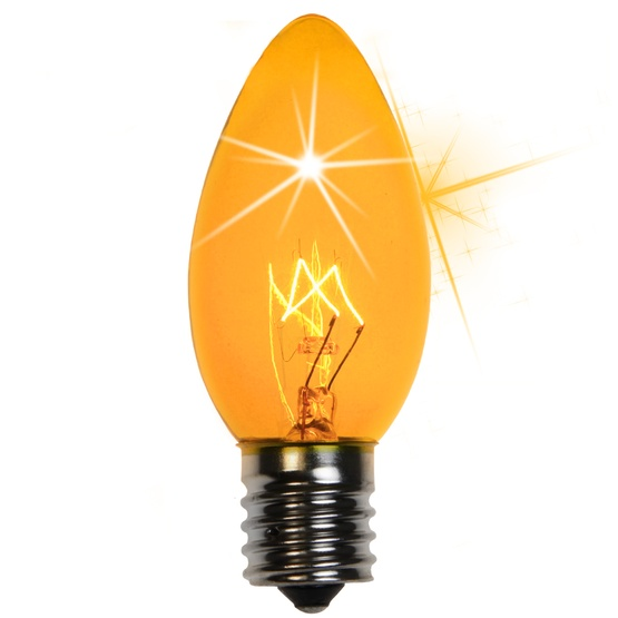 C9 Twinkle Yellow Replacement Bulbs