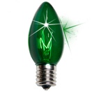 C9 Twinkle Green Christmas Light Bulbs