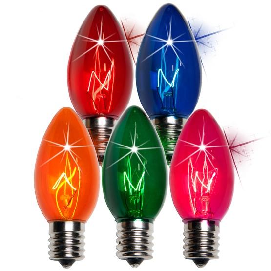 C9 Twinkle Multicolor Christmas Light Bulbs
