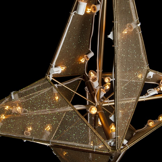 5' Dimensional Nativity Star Treetopper, 45 Clear C7 Lights