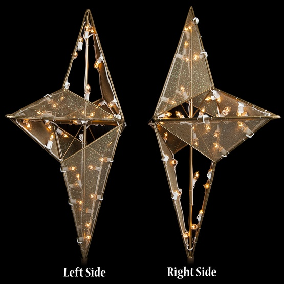 4' Dimensional Nativity Star Treetopper, 40 Clear C7 Lights