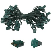 "50' C7 Commercial Light Stringer, SPT1 Green Wire, 18"" Spacing"
