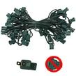 """C7 E12 Light Stringer, 50' Length, 6"""" Spacing, SPT1 7 Amp Green Wire, Commercial Grade"""